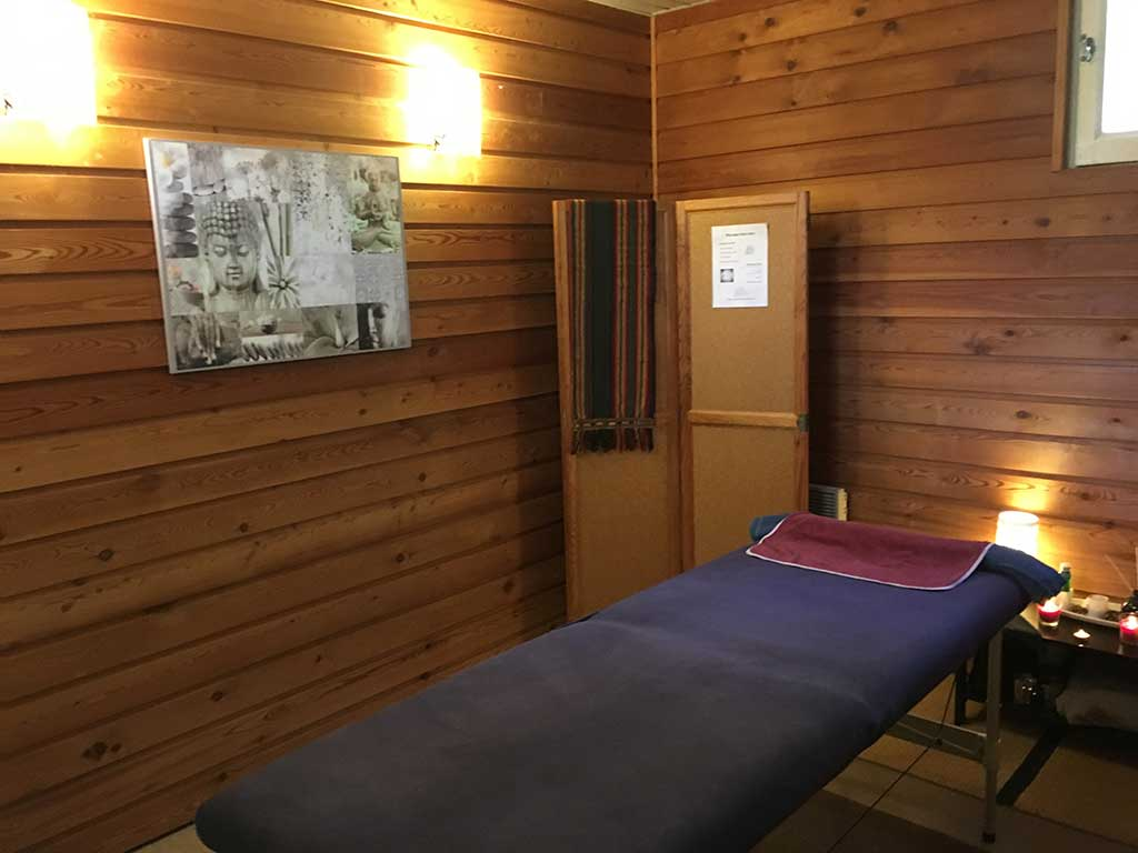 table de massage camping audinac les bains